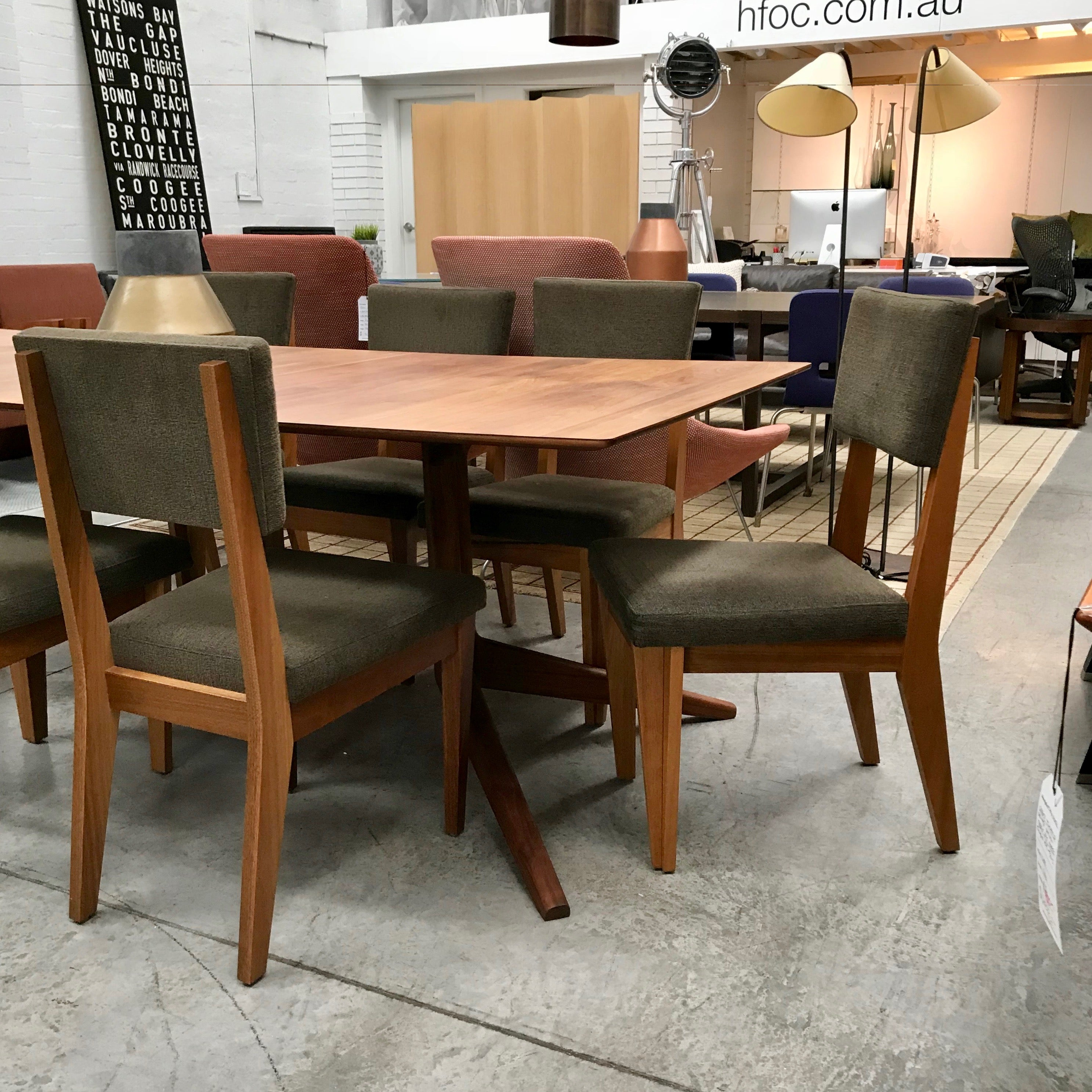 Set of SIX Taper Dining Chairs by Planet Furniture