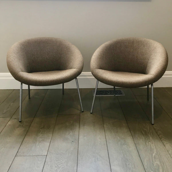 PAIR 369 Chairs by Walter Knoll - Taupe