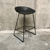 AAS38 About a Stool by Hay - Black Leather (2 available)