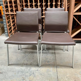 Set of FOUR Leather Dining Chairs by COR (2 sets available)