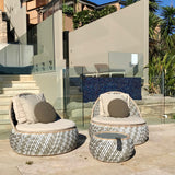 PAIR of DALA Lounge Chairs & DALA Side Table by Dedon