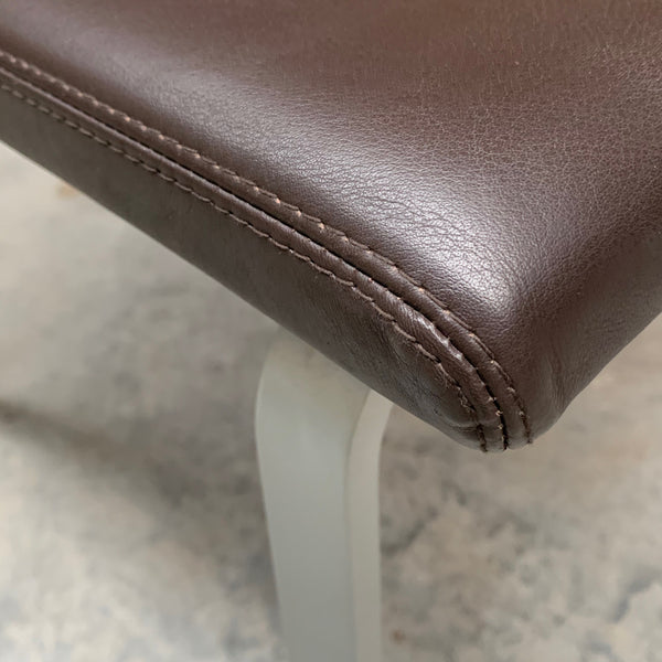 Set of FOUR Leather Dining Chairs by COR
