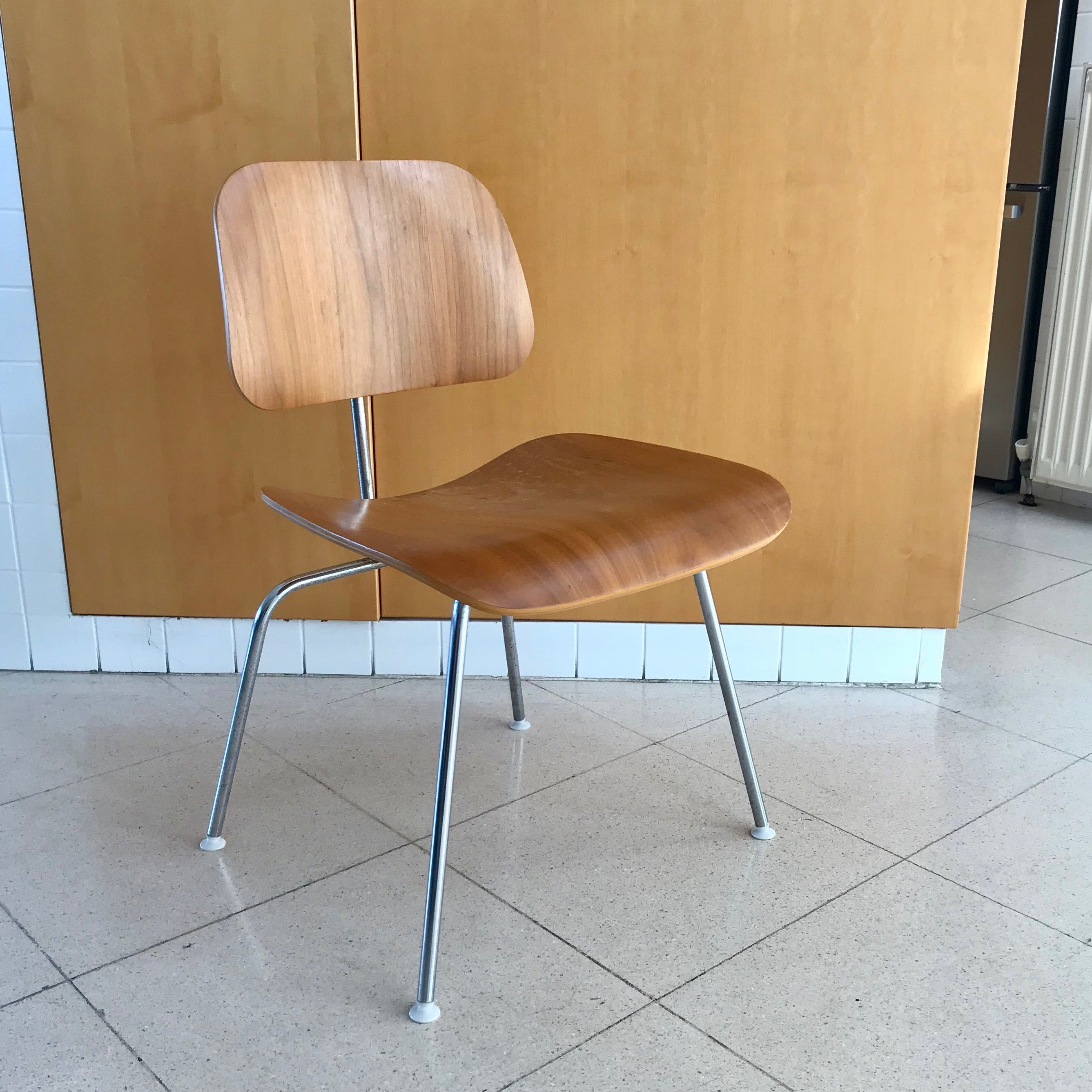 Set of FOUR Eames Molded Plywood Chairs DCM - Dining Chair Metal (2 Sets Available)