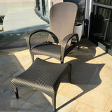 PAIR Tango Recliner Chairs & Footstool by Dedon