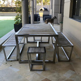 Five Piece Outdoor Table & Benches by Robert Plumb