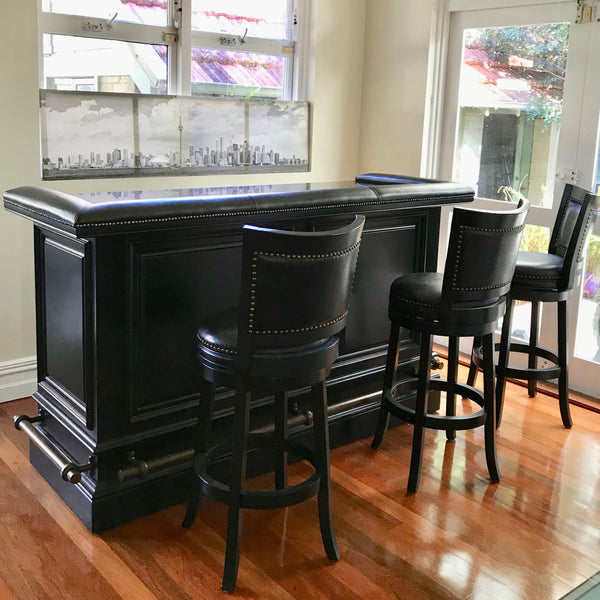 Ultimate Bar & FOUR Barstools by Pottery Barn USA