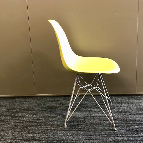 Set of FOUR Eames Eiffel Tower Chairs by Vitra in Lime Green