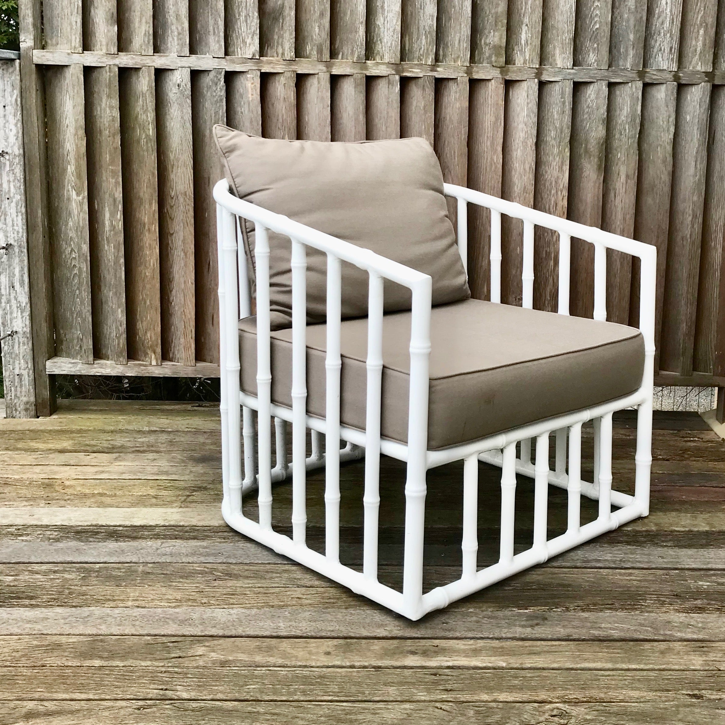 Bella Faux Bamboo Armchair by Robert Plumb (2 available)