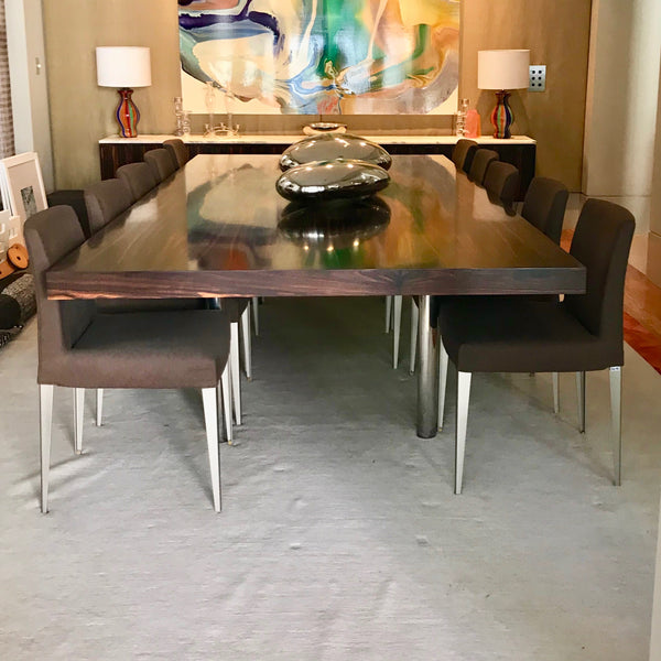 Custom Dining Table By Burley Katon Halliday in Ebony Macassar