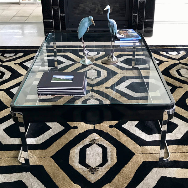 Custom Coffee Table in Black Lacquer