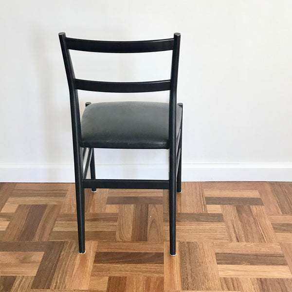 Set of FOUR Vintage 646 Leggera Chairs by Gio Ponti for Cassina (2 sets available)