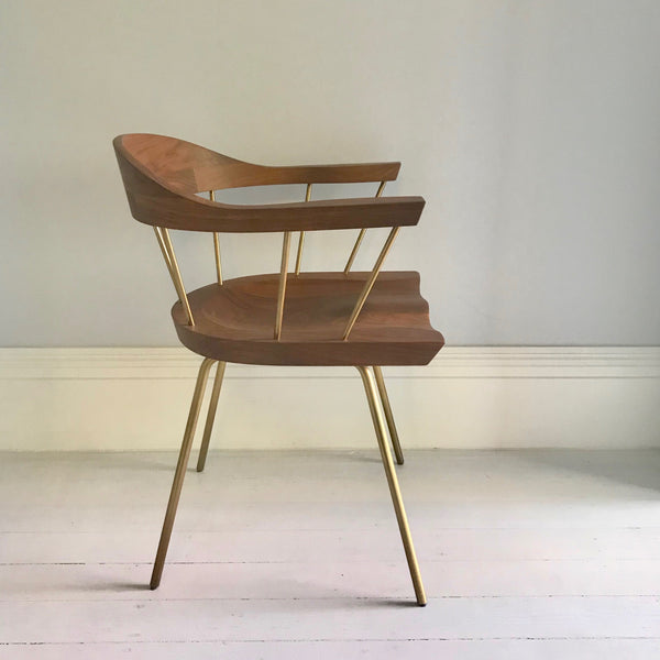 Set of SIX CB-28 Spindle Dining Chairs by Bassam Fellows through HUB