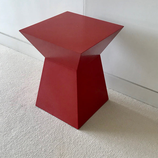 Red Lacquer Side Table by Poliform (2 available)