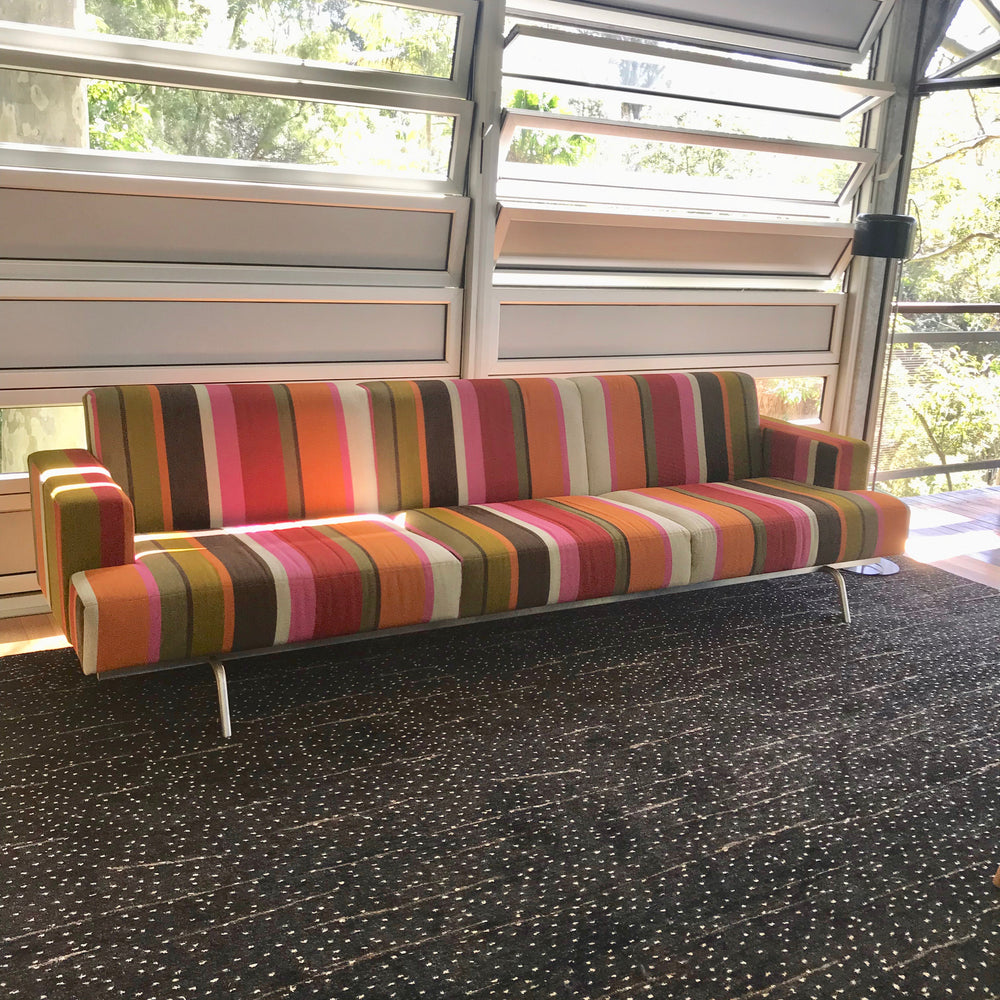 Columbia Four Seat Sofa by Norman + Quaine in Missoni Fabric