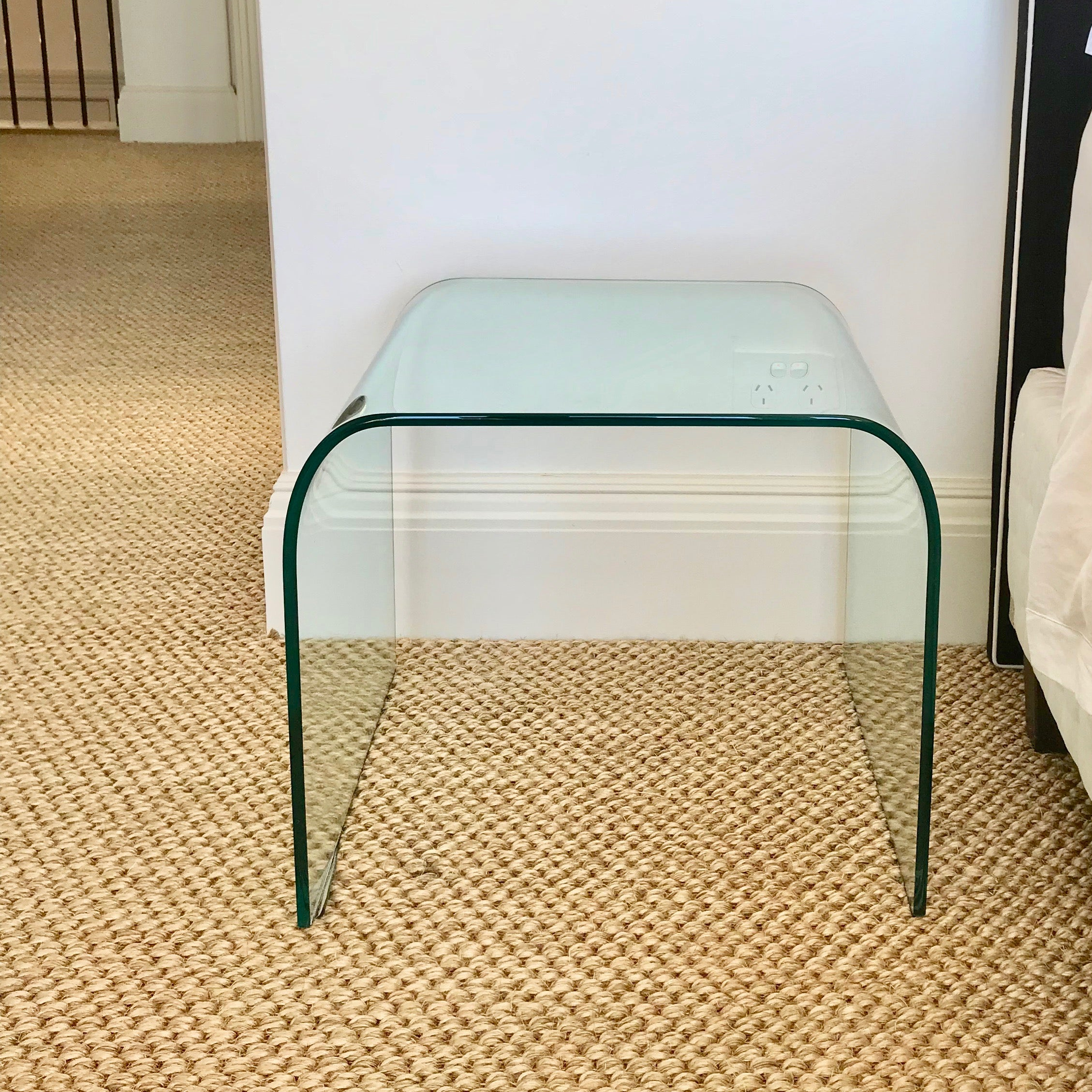 Curved Glass Side Table by Fiam Italia (2 available)