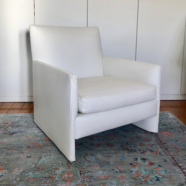 White Leather Armchair by minotti