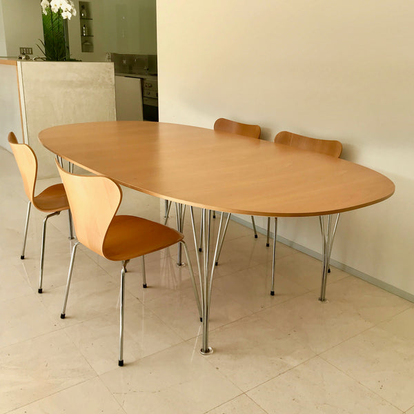 Spanleg Dining Table by Piet Hein for Fritz Hansen
