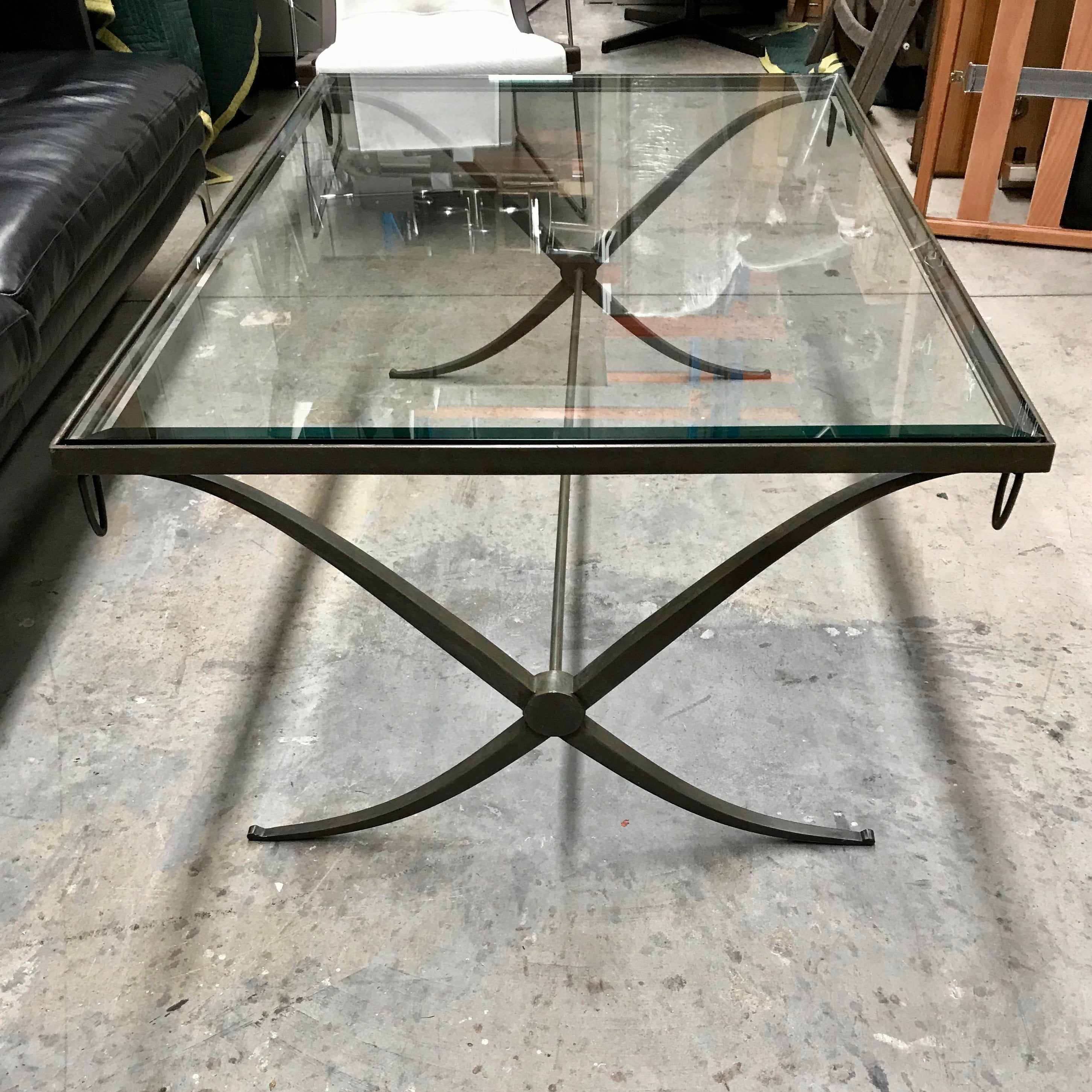 - Iron & Glass Coffee Table By Baker Through Cavit & Co Home