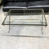 Iron & Glass Coffee Table by Baker through Cavit & Co