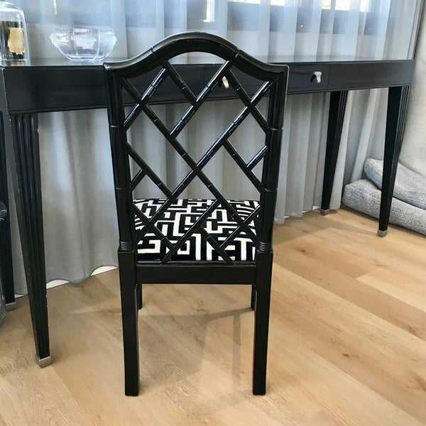 Set of FOUR Chinoiserie Dining Chairs