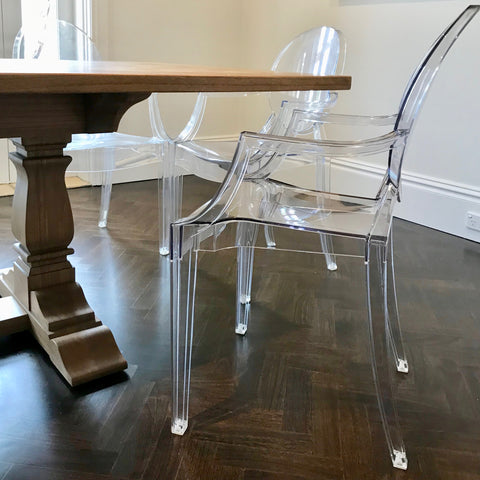 Set of FOUR Louis Ghost Chair by Philippe Starck for Kartell