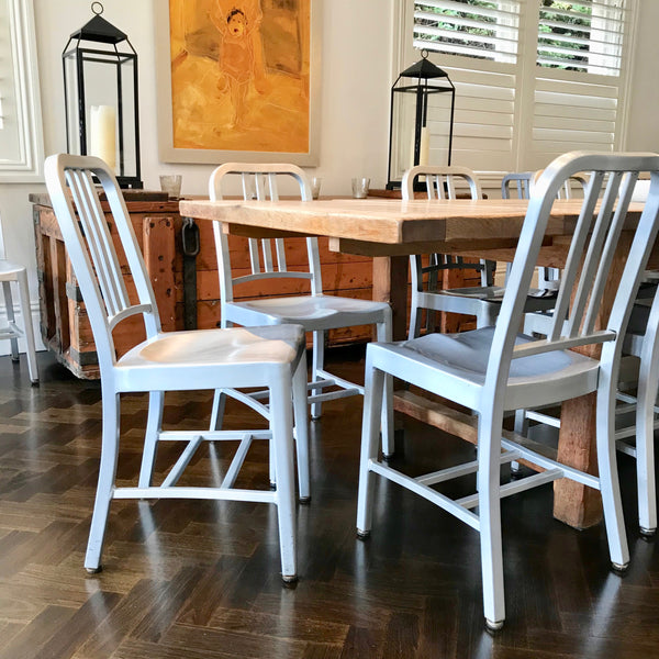 Set of FOUR Navy Chairs through Thonet (3 sets available)