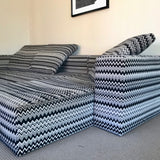 Custom Sectional Sofa in Missoni Fabric