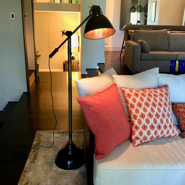 Pharmacy Style Floor Lamp through Coco Republic