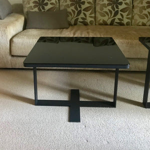 Glass Top Side Table by Camerich (2 available)