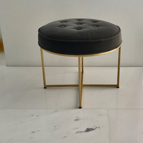 Clifton Buttoned Round Ottoman by Coco Republic (2 available)