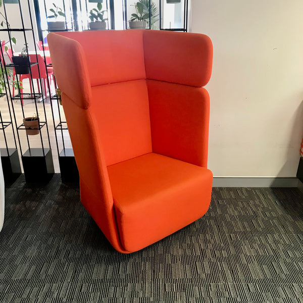 Basket High Back Chair by Matthias Demacker for Softline (Orange)