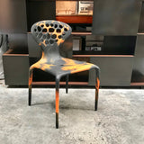 Set of FOUR Supernatural Bicolour Chairs by Ross Lovegrove for Moroso – Orange / Black