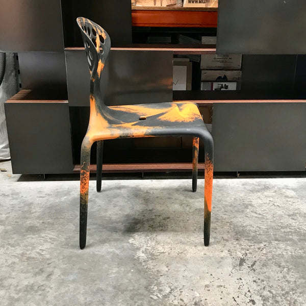 Set of SIX Supernatural Bicolour Chairs by Ross Lovegrove for Moroso – Orange / Black