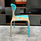 Set of Six Supernatural Bicolour Chairs by Ross Lovegrove for Moroso – Turquoise / Caramel