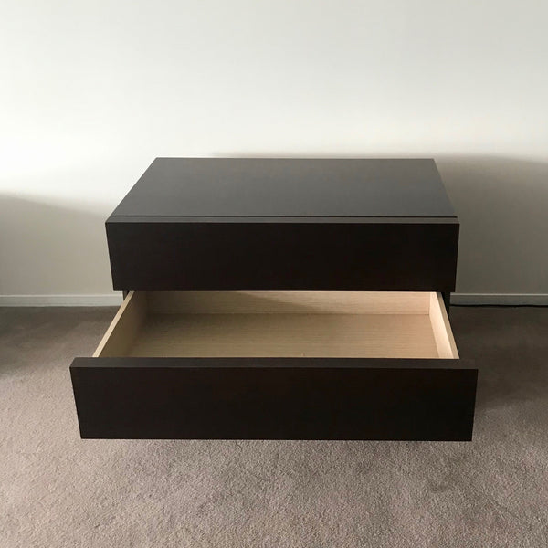 PAIR Two Drawer Bedside Table by Antonio Citterio for Maxalto / B&B Italia