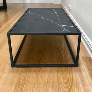 Elle Cube Marble Coffee Table by Globewest