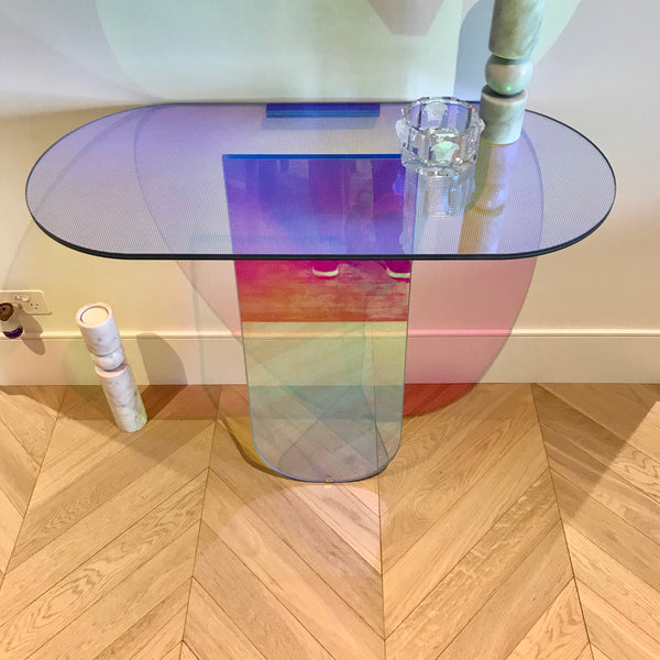 Shimmer Console Table by Patricia Urquiola for Glas Italia