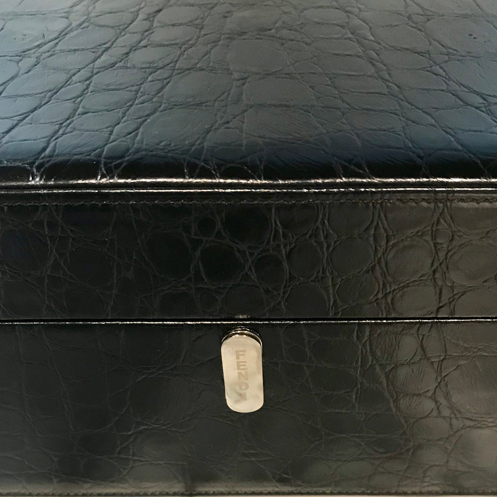 Black Crocodile Humidor by Fendi Casa