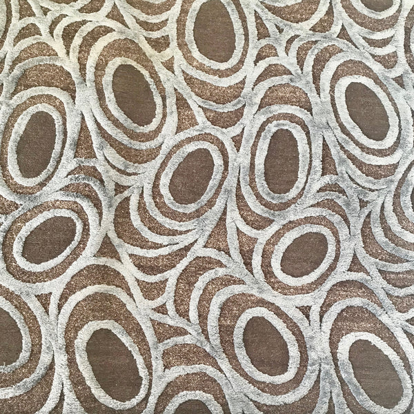Custom Deco Web Wool & Silk Hall Runner by Mortice & Tenon