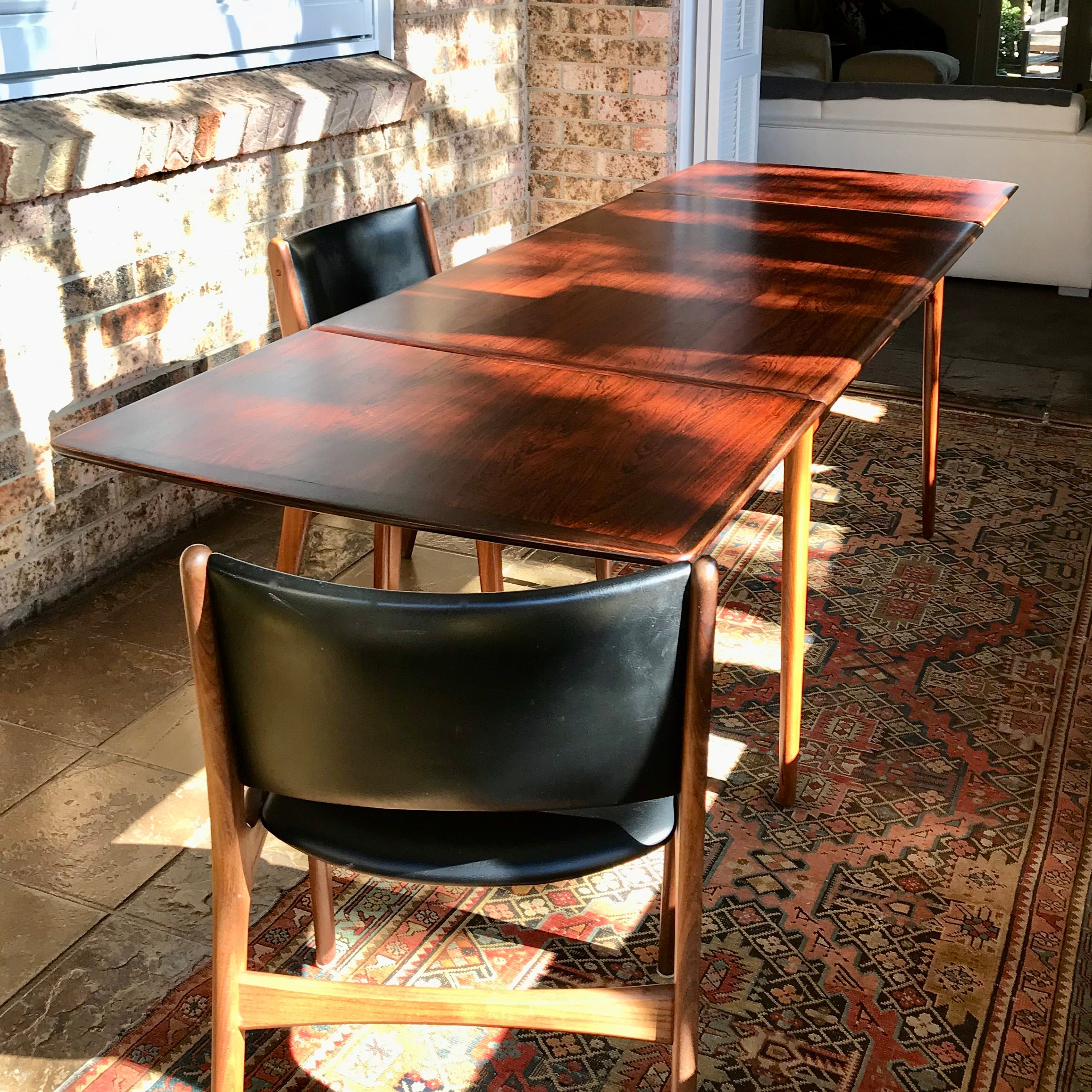 Vintage Brazilian Rosewood Extension Dining Table by Svend Aage Madsen