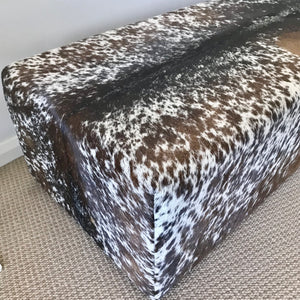 Load image into Gallery viewer, Cow Hide Ottoman