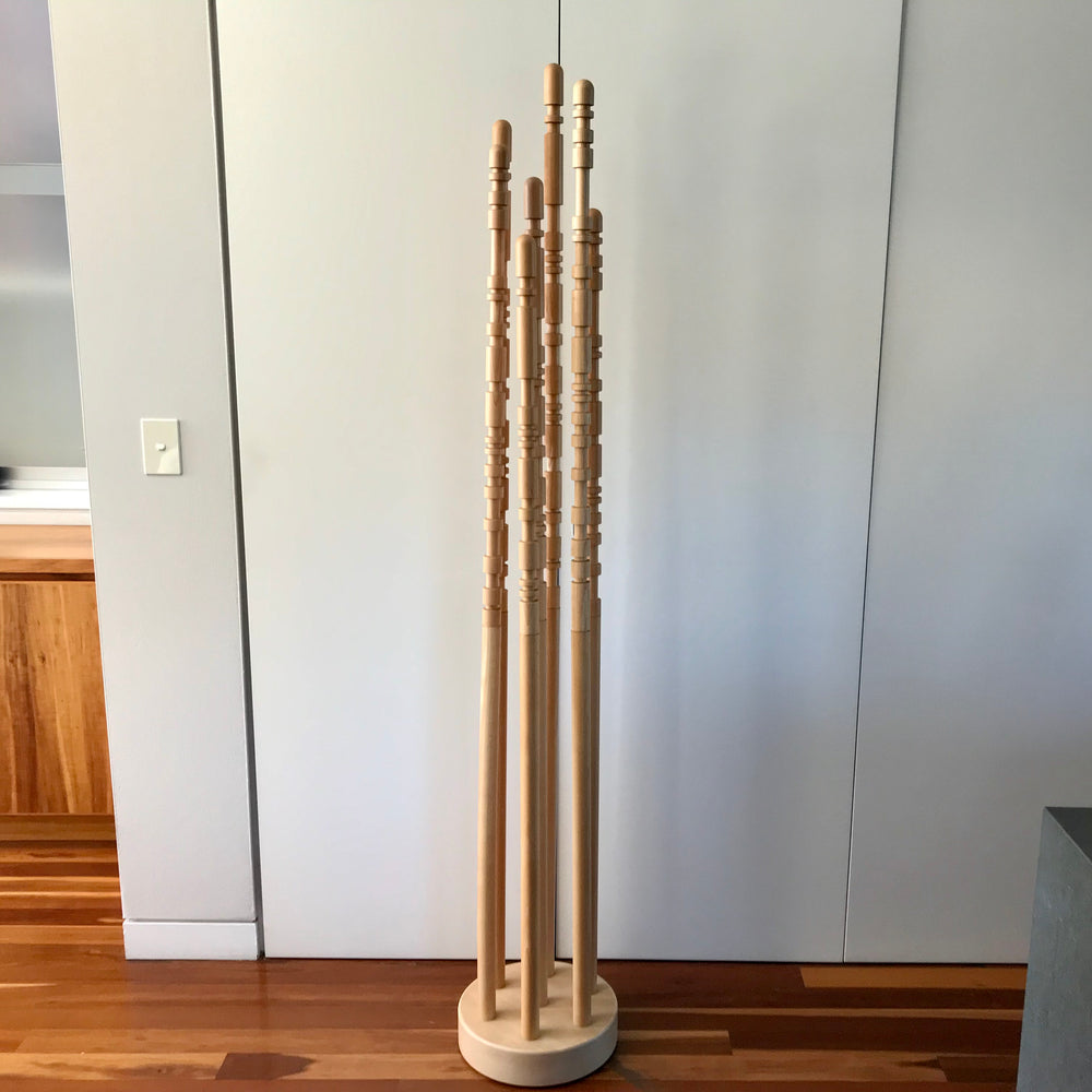 Load image into Gallery viewer, Floor Coat Rack in Beech by Ipali