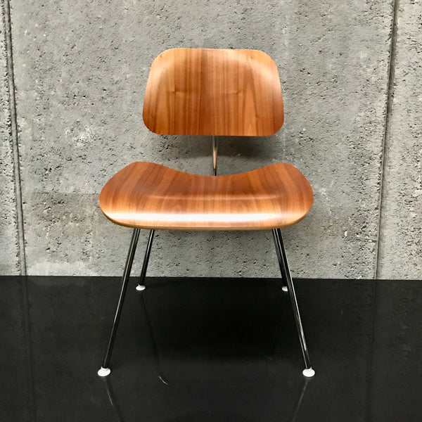 Set of FOUR Eames Moulded Plywood DCM Chairs for Herman Miller