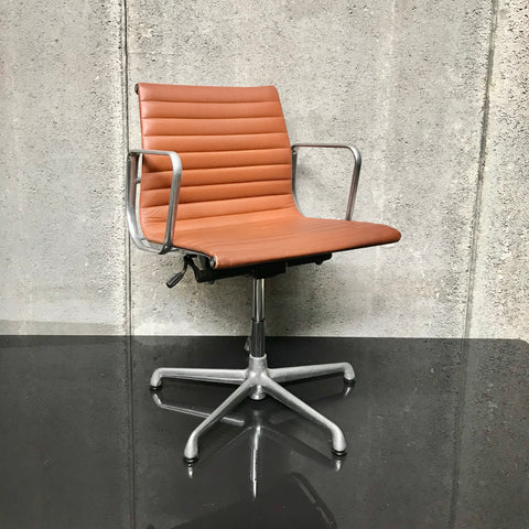 Eames Aluminium Group Side Chair with Arms by ICF Italy