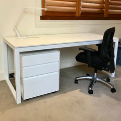 SD Desk with Three Drawer Unit by Aero Designs