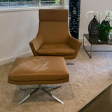 Jill Lounge Chair & Footstool by Bob Anderson for BPA International