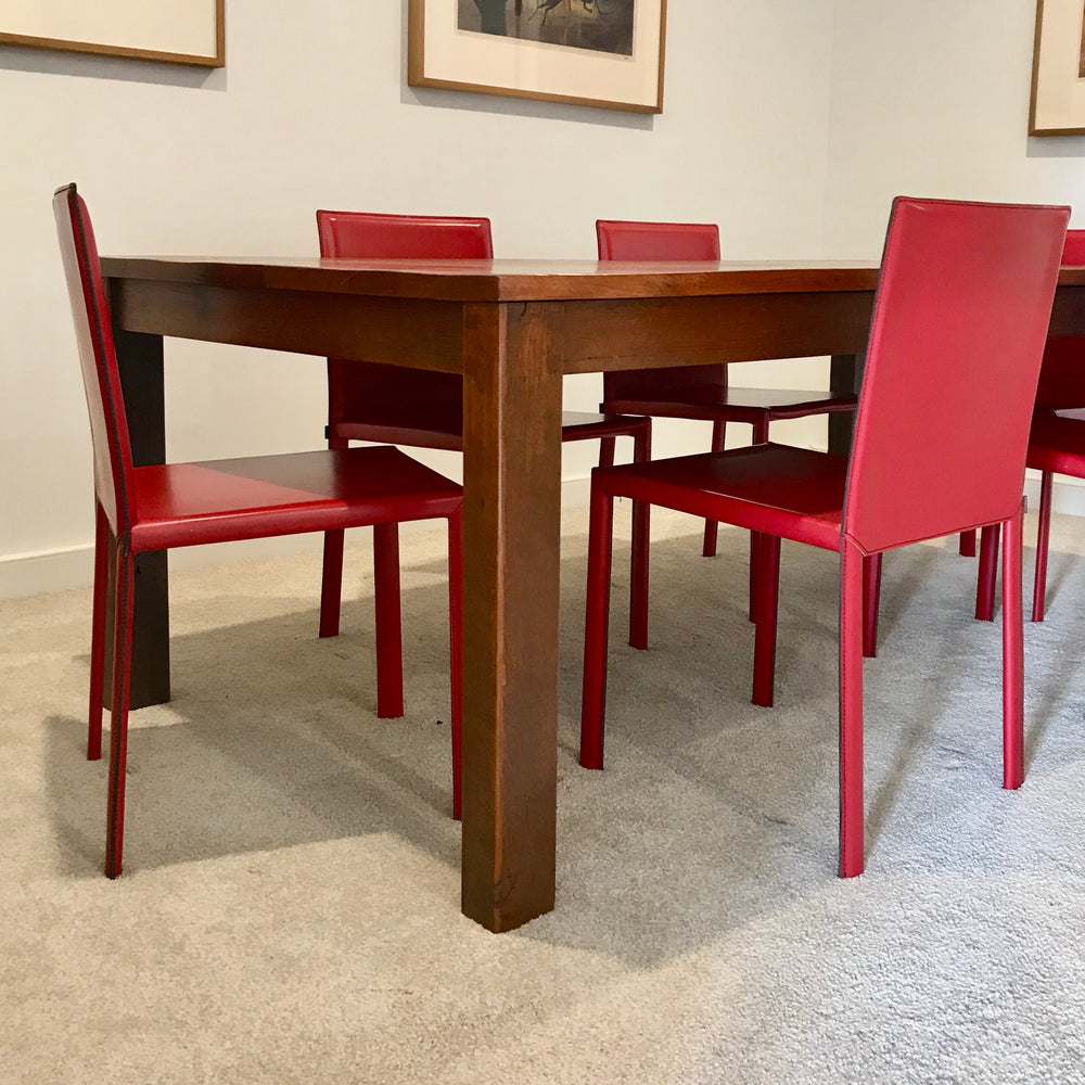 Set of FOUR Slim Dining Chairs by Kristalia through Fanuli
