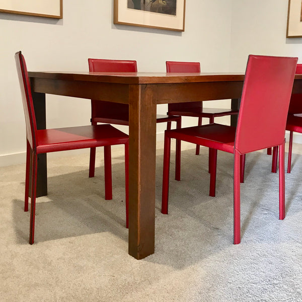 Set of FOUR Slim Dining Chairs by Kristalia through Fanuli (2 sets available)