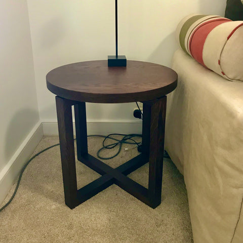 Round Timber Side Table through Hare + Klein (2 available)