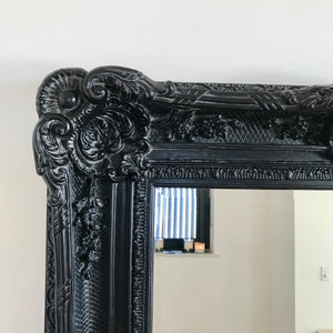 Load image into Gallery viewer, Ornate Black Frame Mirror